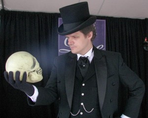 """Tales From Poe"" was hosted by the Poe House in Baltimore, as part of the 2009 Baltimore Book Festival."