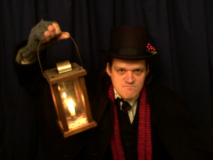 "Steve Anderson as Scrooge in ""A Christmas Carol"" (GreatTalesLive.net)"